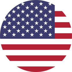 United states of america flag round xs